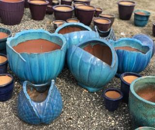 Aqua Glazed Clay