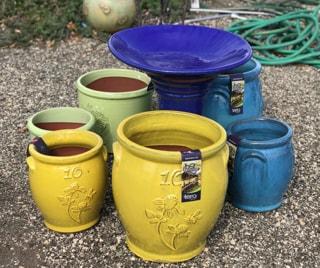 Yellow Ochre Pots